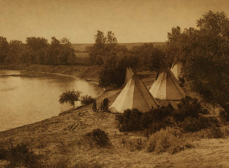 A River Camp - Yanktonai