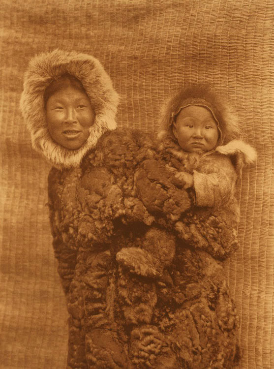 694 Woman and Child - Nunivak